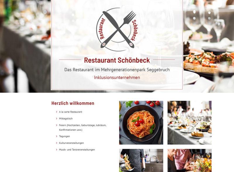 Restaurant Schönbeck - Inklusives Restaurant im MehrGenerationenPark Seggebruch