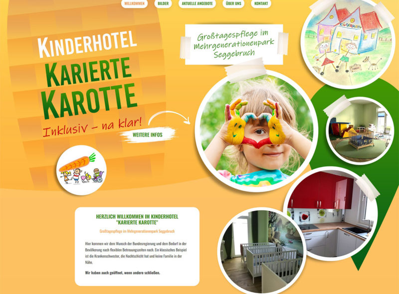 Kinderhotel Karierte Karotte - Großtagespflege im Mehrgenerationenpark Seggebruch