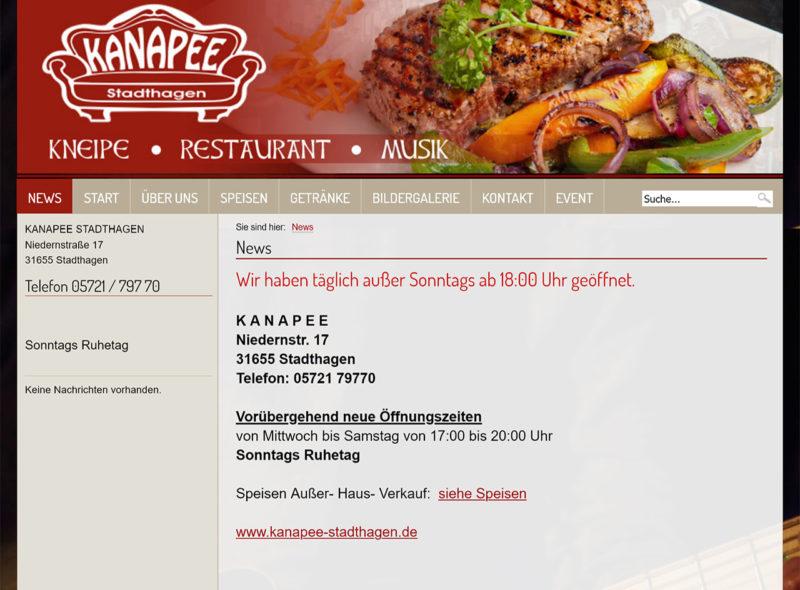 Kanapee Stadthagen