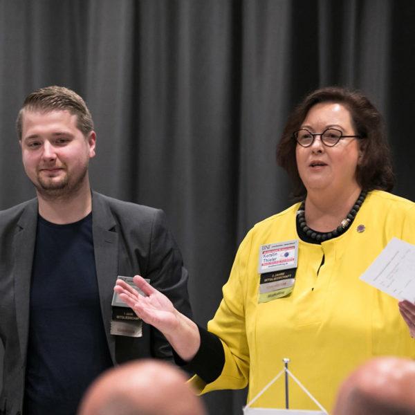 23.05.2019: Unternehmerfrühstück BNI WESERBOGEN Minden: Steffen Schiffel und Kerstin Thieler