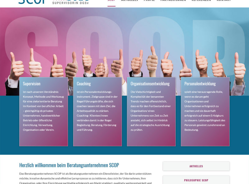 SCOP - Ursula Bolg: Supervisorin DGSv