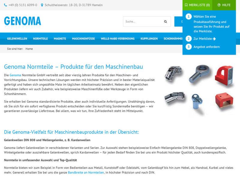 GENOMA Normteile GmbH - Produkte für den Maschinenbau