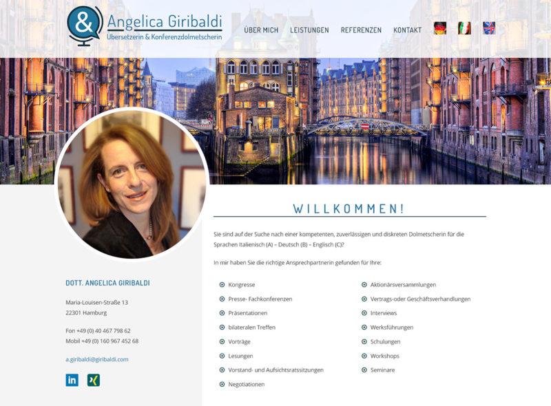 Angelica Giribaldi - Übersetzerin und Konferenzdolmetscherin