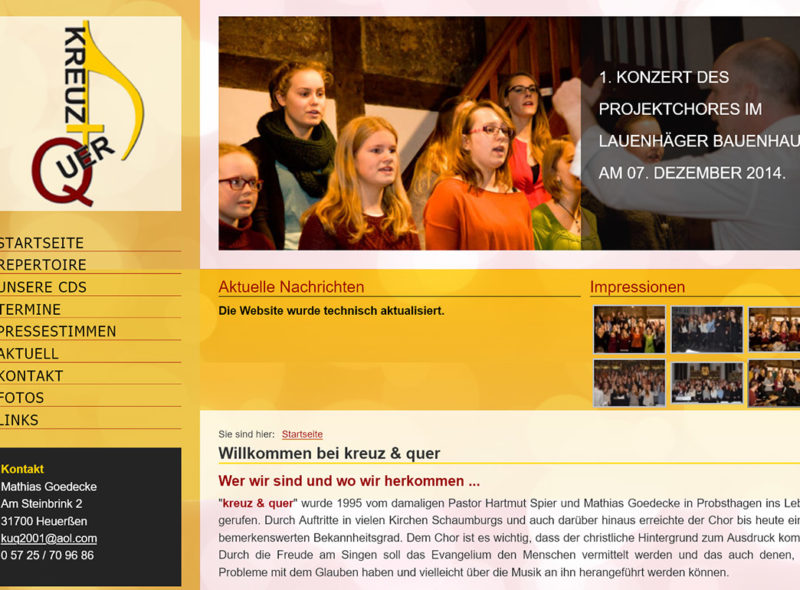 Gospelchor kreuz & quer, Leitung: Mathias Goedecke