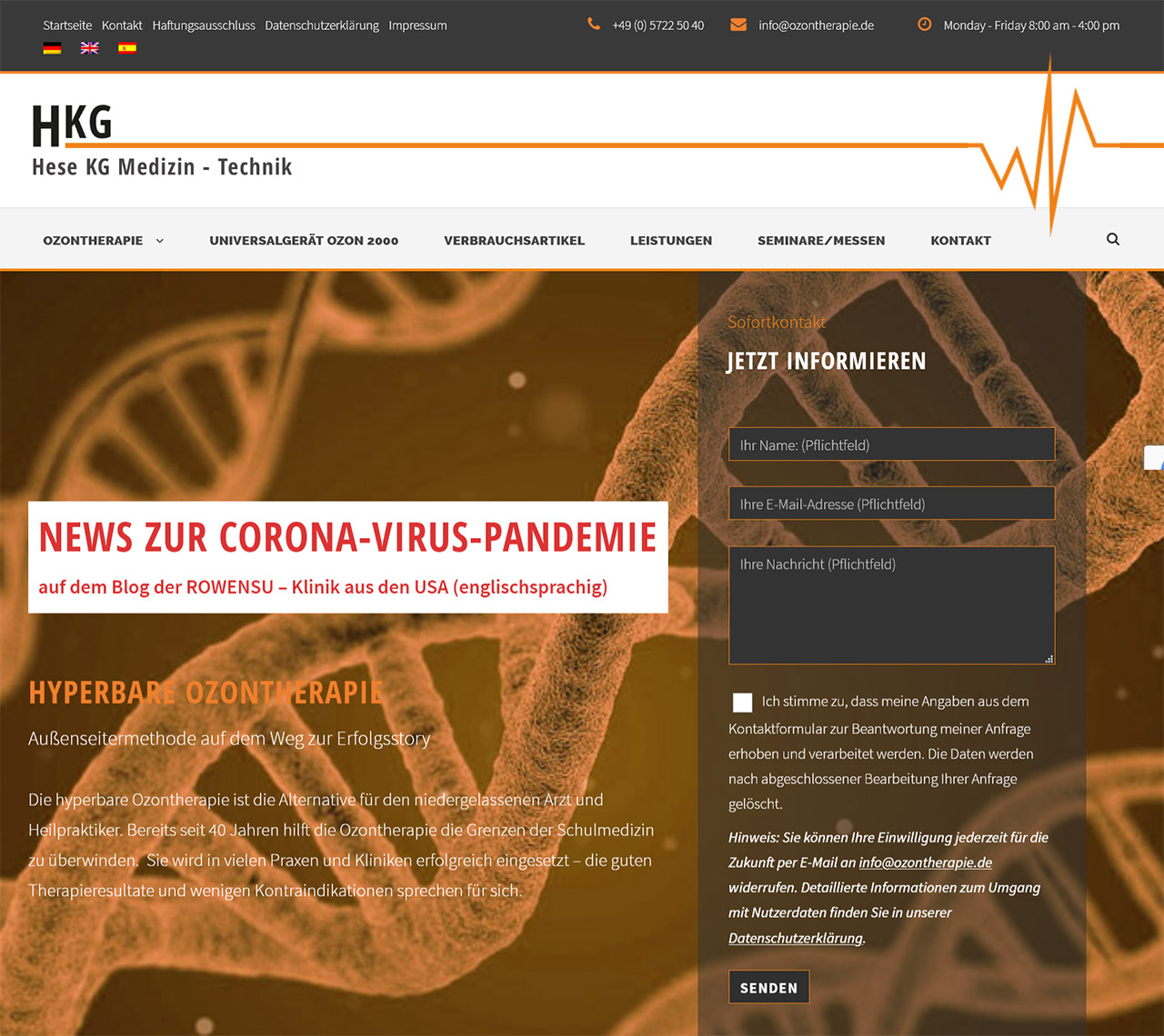 Ozontherapie - Hese KG Medizin-Technik