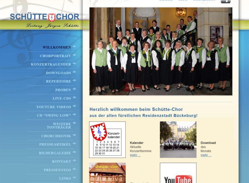 Schütte-Chor e.V., Leitung: Jürgen Schütte, Bückeburg