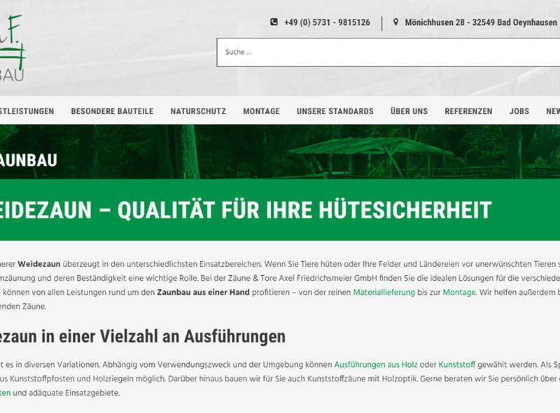 Axel F. Zaunbau - Weidezaun-Bau