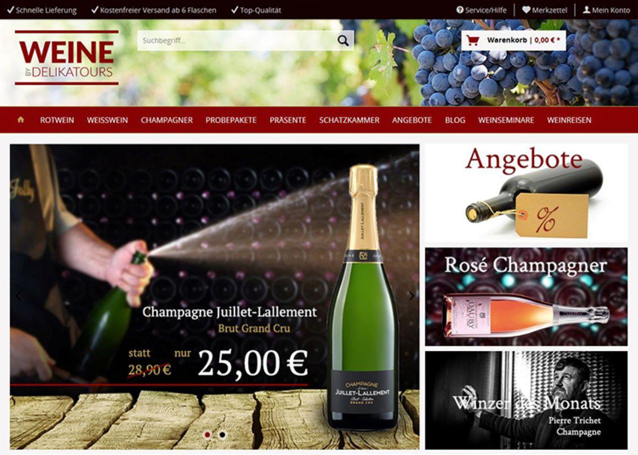 Weine by Delikatours: Erlesene Weine und Champagner aus Frankreich