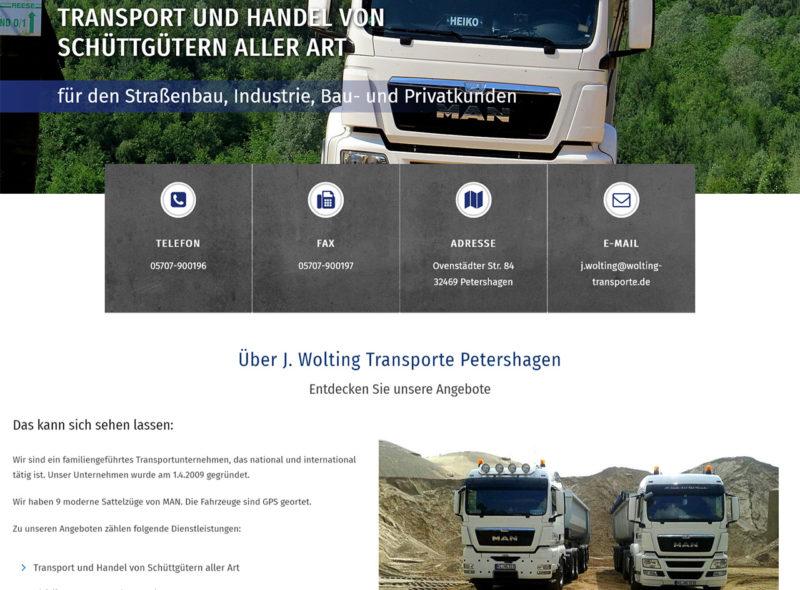 Wolting Transporte - Transport und Handel von Schüttgütern aller Art
