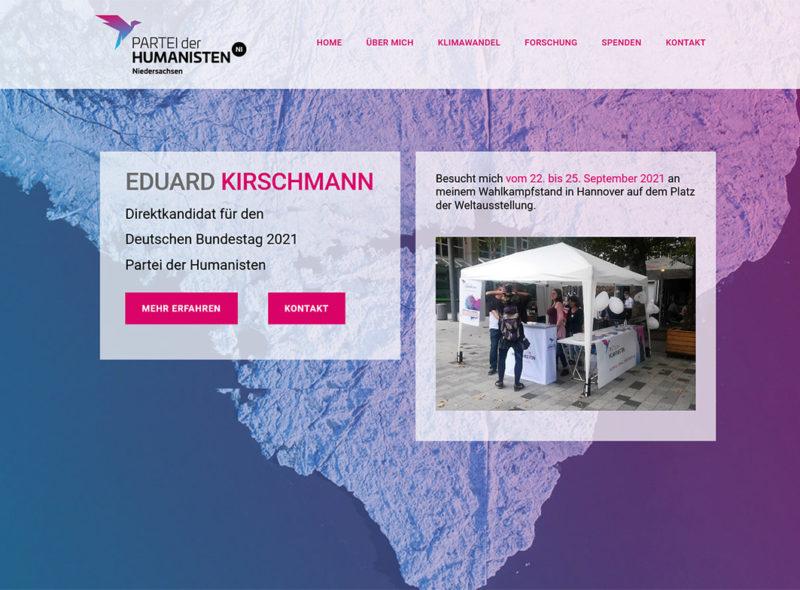 Eduard Kirschmann - Partei der Humanisten